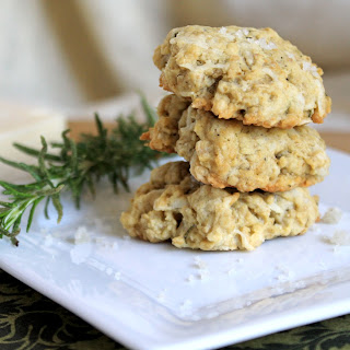 Savory Asiago Rosemary Cookies