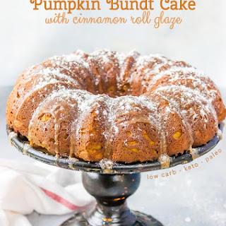 Keto Pumpkin Bundt Cake.