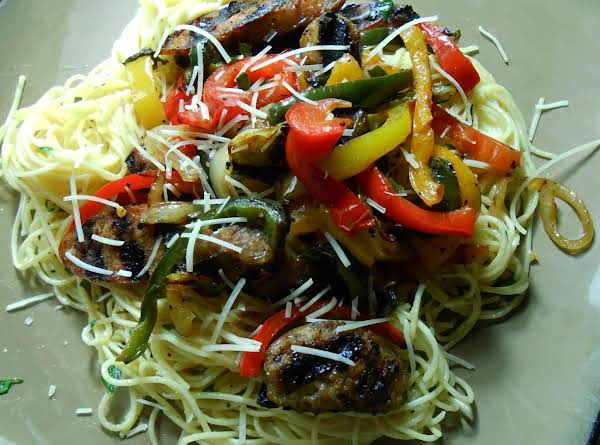 Grilled Sausage And Pepper With Pasta Recipe