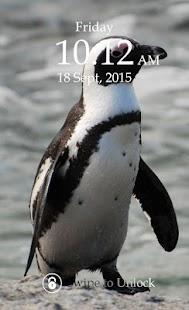 Penguin Keypad Lock Screen screenshot