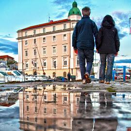 after rain  by Darko Čaleta - City,  Street & Park  Street Scenes