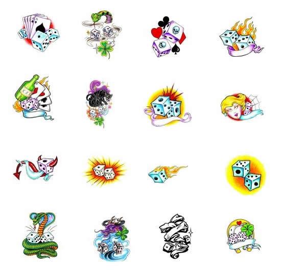 Tatuagens De Dados   Desenhos  Significados E Fotos De Tatuagens