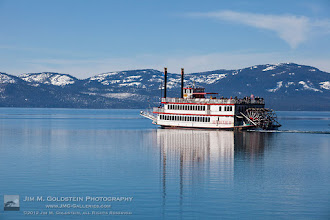 Photo: River Boat Crossing Lake Tahoe on a Cold Winter Morning