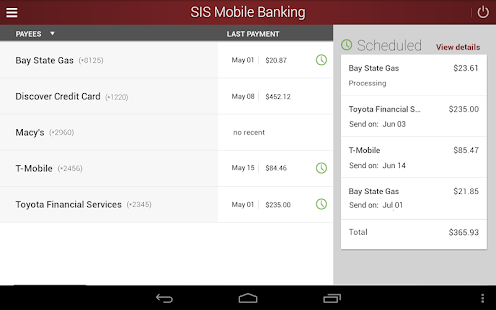 SIS Mobile Banking- screenshot thumbnail