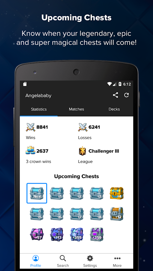 Stats Royale for Clash Royale- screenshot