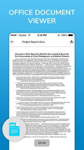 Document reader - Pdf reader , Word File opener 1.8 screenshots 2