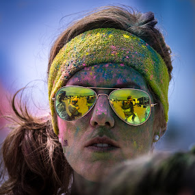 Color run by Jocke Mårtensson - Sports & Fitness Other Sports ( shades, reflection, painted, color, colorrun )