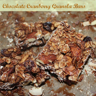 Chocolate – Cranberry Granola Bars
