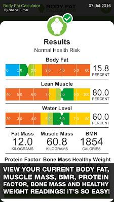 Body Fat Calculator - screenshot