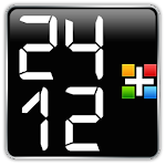 24/12 LCD Clock for Gear Fit