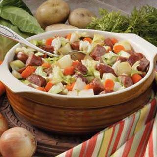 Cabbage Sausage Supper.