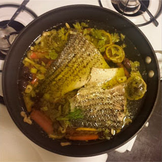 Striped Bass Poached in Olive Oil