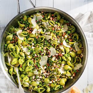 Pea and Spinach Pesto Pasta Recipe