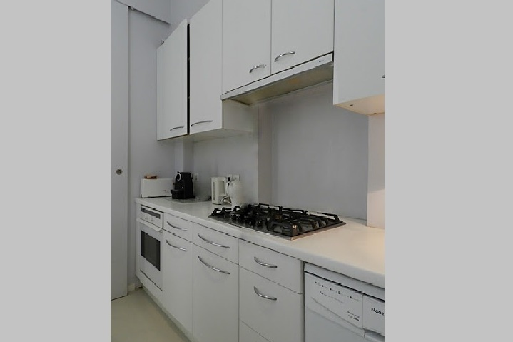 Fully equipped kitchen at Rue des Ursulines Serviced Apartment, Latin Quarter