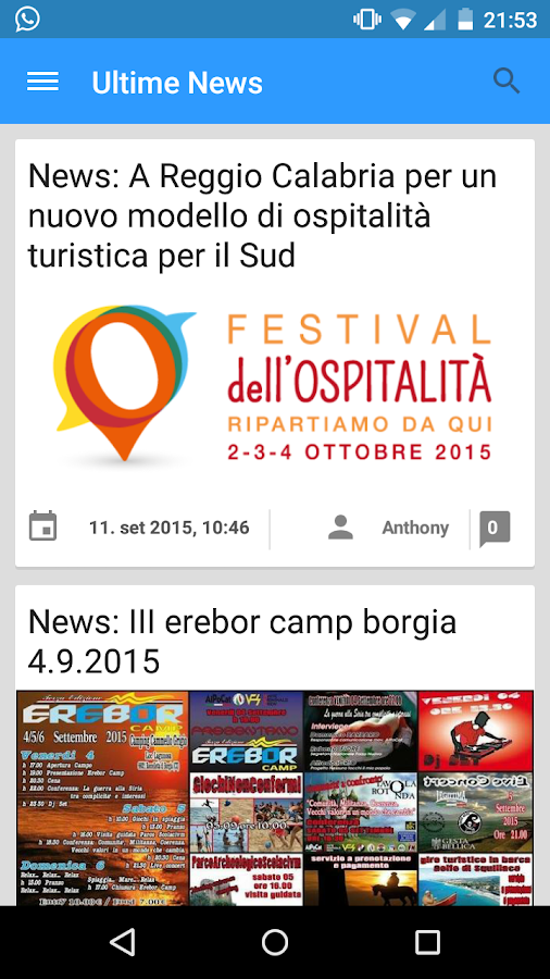 Borgiaweb.it - News- screenshot