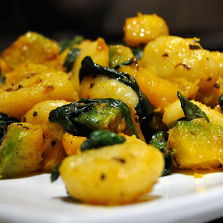 Gnocchi with Brown Butter and Sage.