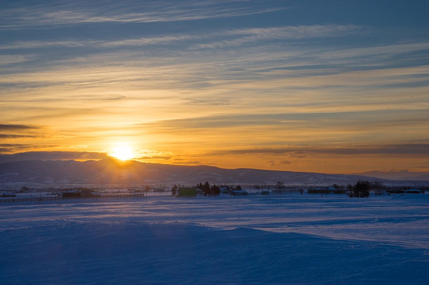 クリスマス・イブの朝陽