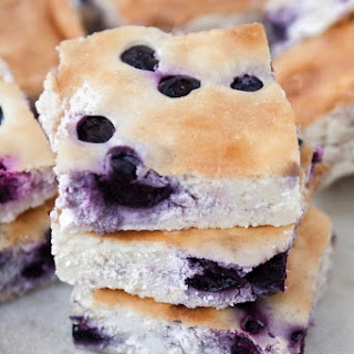 Low-Carb Blueberry Cheesecake Bars.