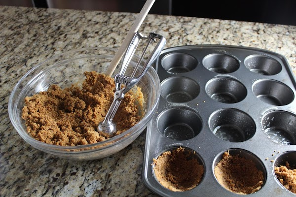 For the apple pies, in a bowl mix gingersnap crumbs and butter until well...