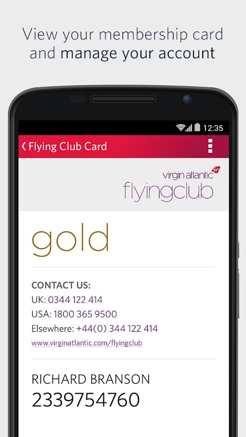Virgin Atlantic- screenshot