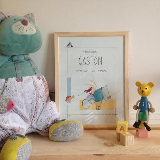 Affiche personnalisé Illustre Albert - Jeux, jouets et peluches, tableau personnalisé pour chambre d'enfant