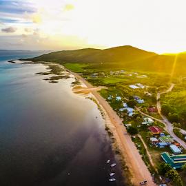 Maubiag Sunset by Jd Purdy - Landscapes Sunsets & Sunrises ( maubiag, island life, waterscape, island, sunset, torres strait, beach, community, water )