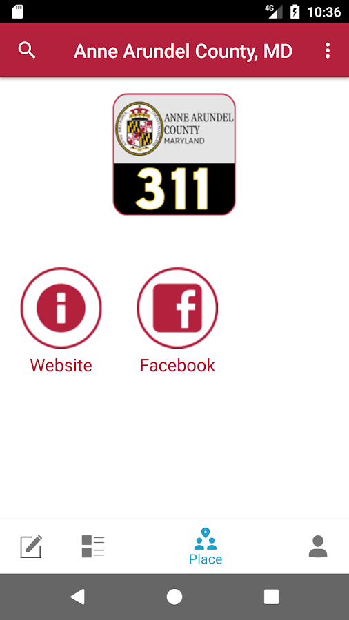 Anne Arundel County 311- screenshot
