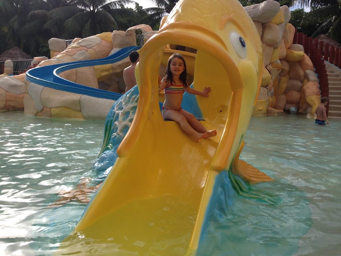 Maya at the waterpark