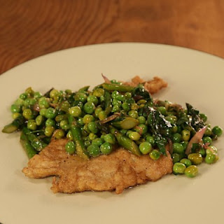 Chicken Scaloppine with Asparagus & Peas