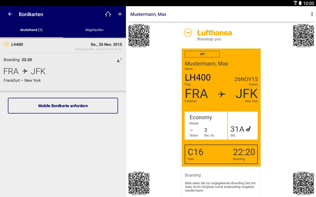 Lufthansa Buchungscode
