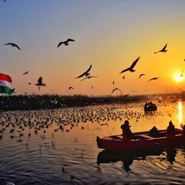 Beginning by Kallol Bhattacharjee - Landscapes Sunsets & Sunrises ( sunris, dawn, river )