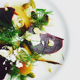 Beets, Roasted Fennel with Pepita Crema