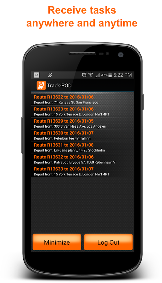 Track-POD Proof of Delivery - ePOD- screenshot