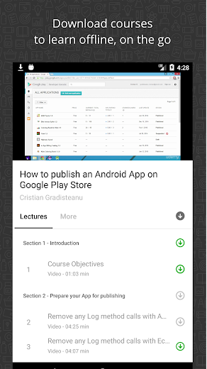 Screenshot 4 for Udemy's Android app'