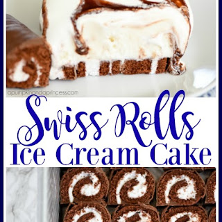 Swiss Rolls Ice Cream Cake
