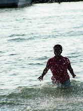 Photo: Splashing in the ocean!