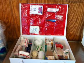 Photo: First aid box white metal