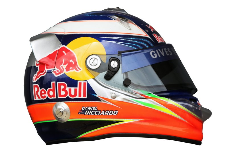 Photo: The helmet of Daniel Ricciardo (AUS) Hispania Racing F1 Team (HRT).Formula One World Championship, Rd 9, British Grand Prix, Preparations, Silverstone, England, Thursday 7 July 2011.