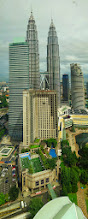 Photo: The Petronas towers and the Mandarin Hotel with a beautiful pool. Taken from the 38th floor of the Grand Hyatt