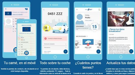 La DGT permite llevar en el móvil la documentación del coche o moto y el carnet