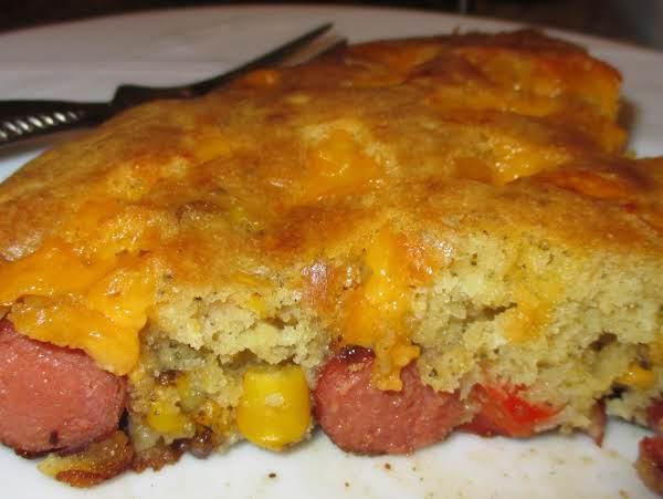 Skillet Corn Dog Casserole Recipe