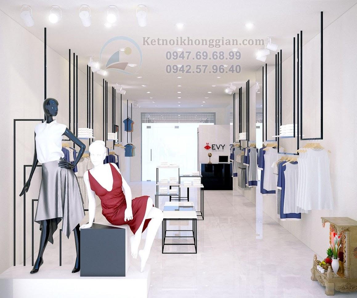 thiết kế shop quần áo evy tại hưng yên