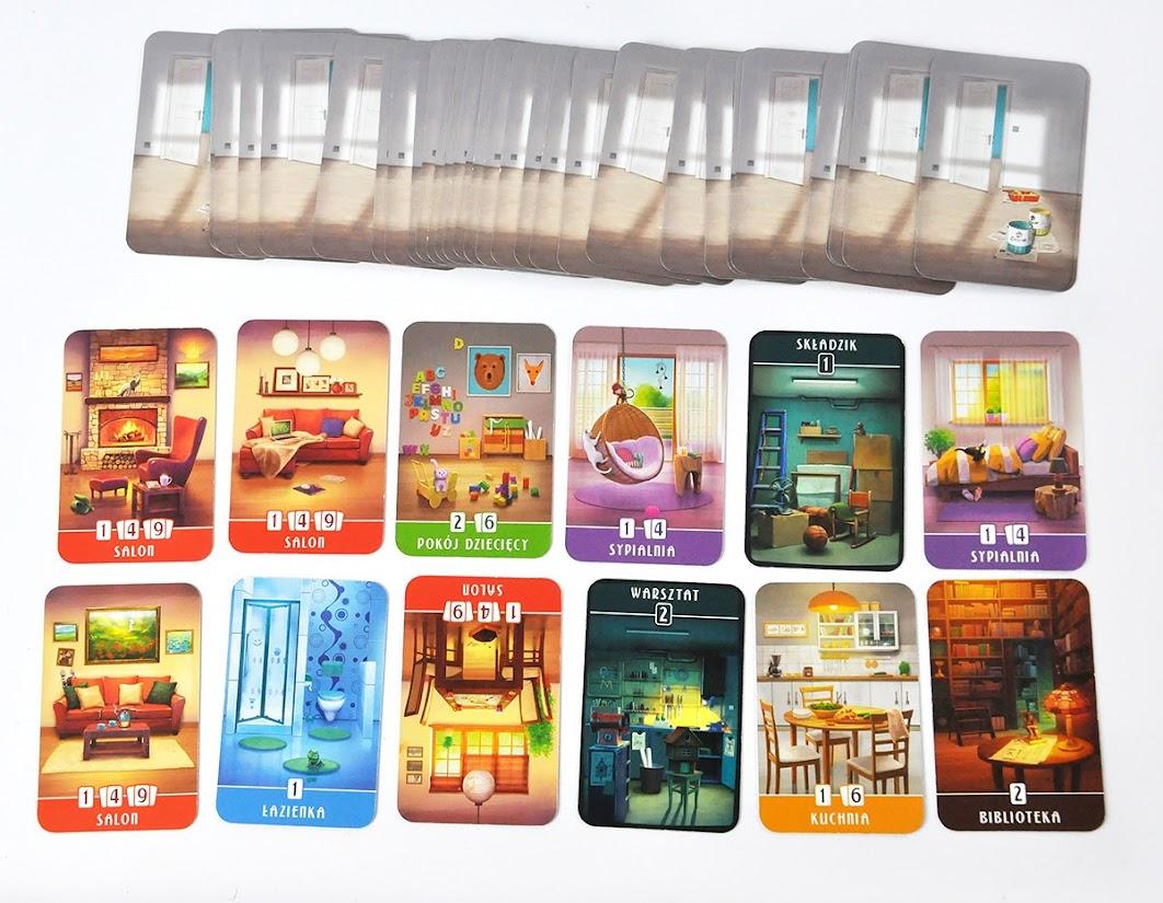 Domek - karty pomieszczeń