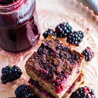 Blender Blackberry Jam Quinoa Cakes {Gluten Free, Dairy Free}