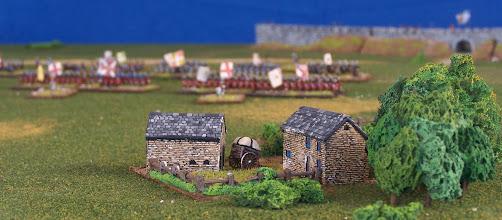 Photo: Una fattoria sui Piani di Abramo.Miniature Baccus, materiale scenico TimeCast e autocostruito.
