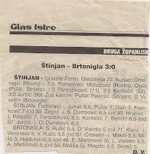 Photo: Glas Istre 6. 5. 2002 Druga ŽNL sa Brtoniglom