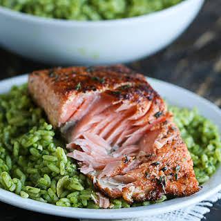 Pan Seared Salmon With Spice Rub.