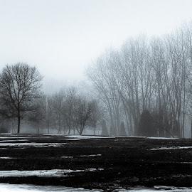 lost by Jean-Marc Landry - Black & White Buildings & Architecture ( brume, landscape, fog,  )