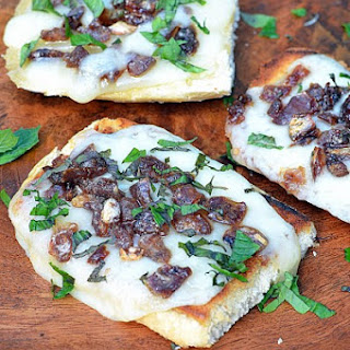 Asiago Cheese, Date and Mint Toasts