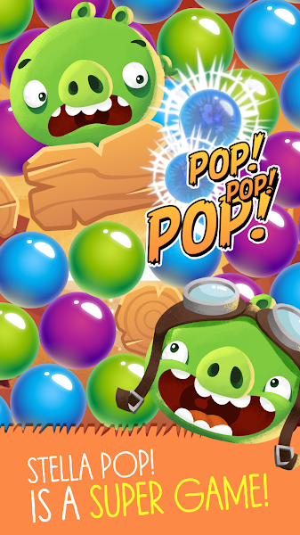 Angry Birds POP Bubble Shooter Mod Apk - screenshot